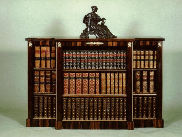 Residential_bookcases on Dark Mahogany Wood Furniture
